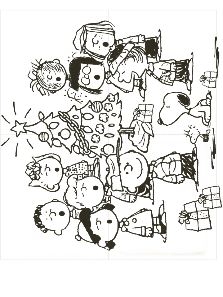 christmas snoopy coloring pages - photo#15