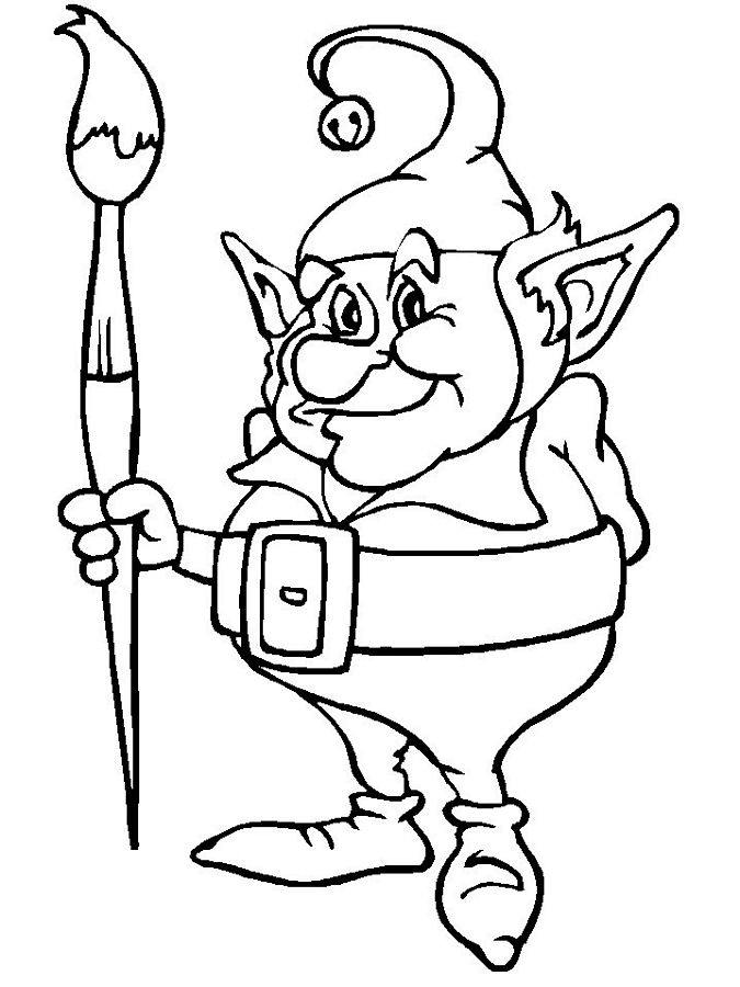 elves coloring pages - elf coloring pages