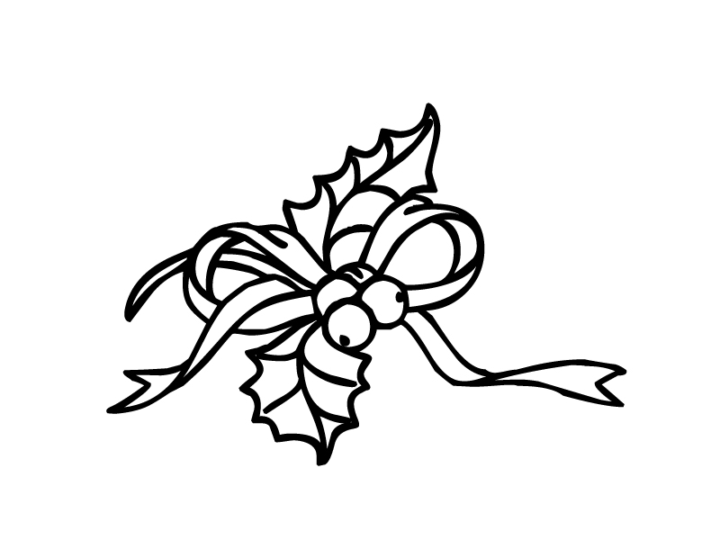 holly leaf Colouring Pages (page 2)