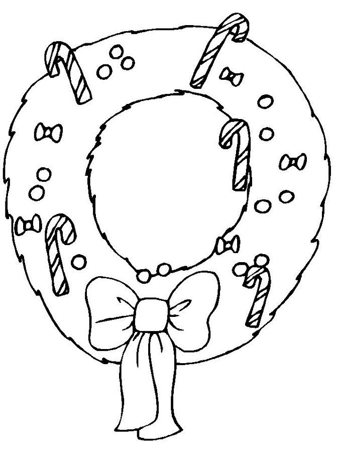 Foliage Themed Christmas Coloring Pages