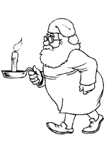 Santa with Candle